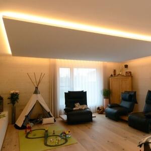 akustikdecke wohnraum